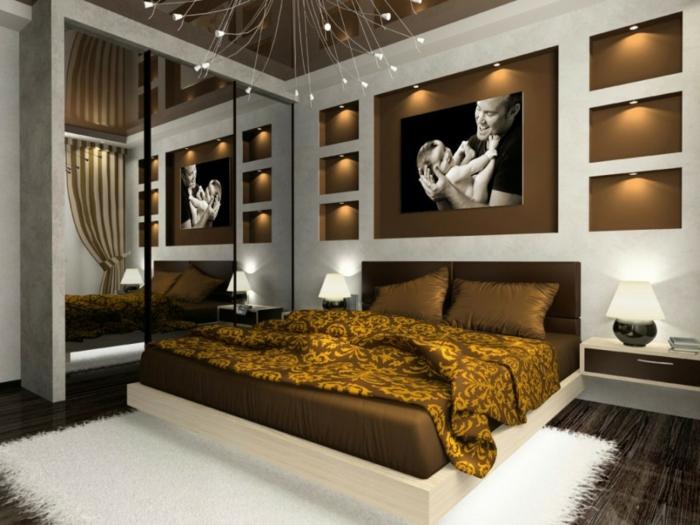 Schlafzimmer Braun Bemerkenswert On In Bezug Auf Wandgestaltung Modern Micheng Us 7