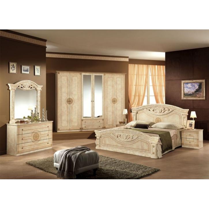 Schlafzimmer Creme Beige Imposing On Beabsichtigt Rana 6 Türig Schrank 180 Bett Design Lu 8 ...