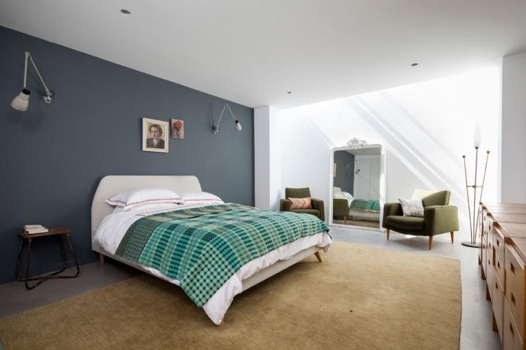 Schlafzimmer Grau Beige Modern On Mit Wandfarbe Im 77 Gestaltungsideen 8
