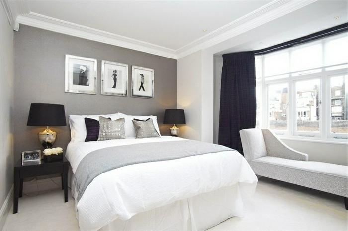 Schlafzimmer Grau Streichen Stilvoll On Für Wunderbar Wand Farbideen Fürs Wohnzimmer Wände 1