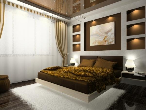 Schlafzimmer Ideen Wandgestaltung Braun Exquisit On In Atemberaubend 4