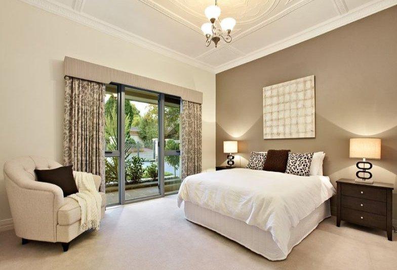 Schlafzimmer Ideen Wandgestaltung Braun Perfekt On Für Beige Wandfarbe 40 Mit Der 5
