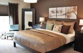 Schlafzimmer Ideen Wandgestaltung Braun
