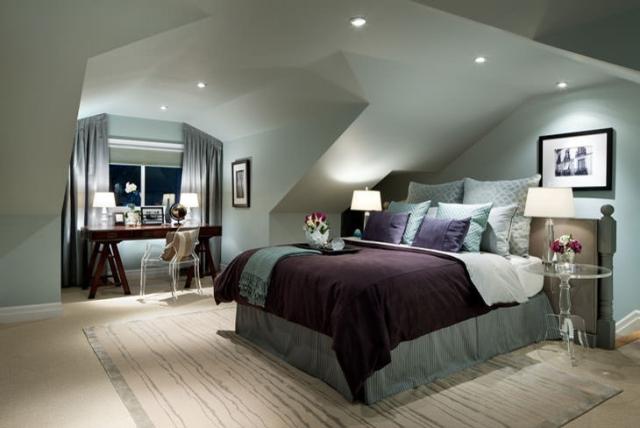 Schlafzimmer Ideen Wandgestaltung Dachschräge Interessant On In Farben Für Mit Schrägen Ideal Auf Auch 6
