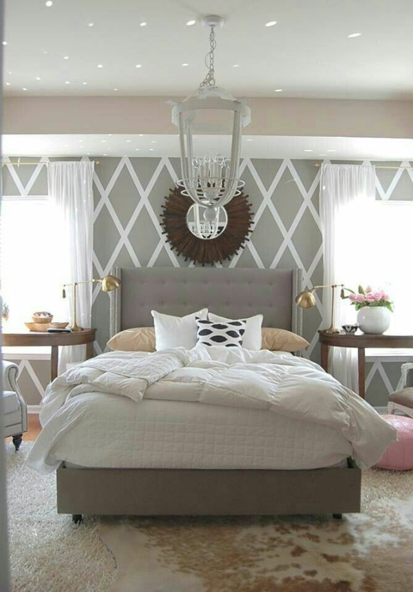 Schlafzimmer Ideen Weiß Beige Grau