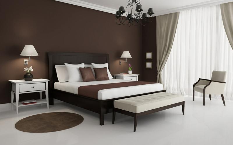 Schlafzimmer In Braun Und Beige Tönen Charmant On Braune Wandfarbe Entdecken Sie Die Harmonische Wirkung Der Brauntöne 6