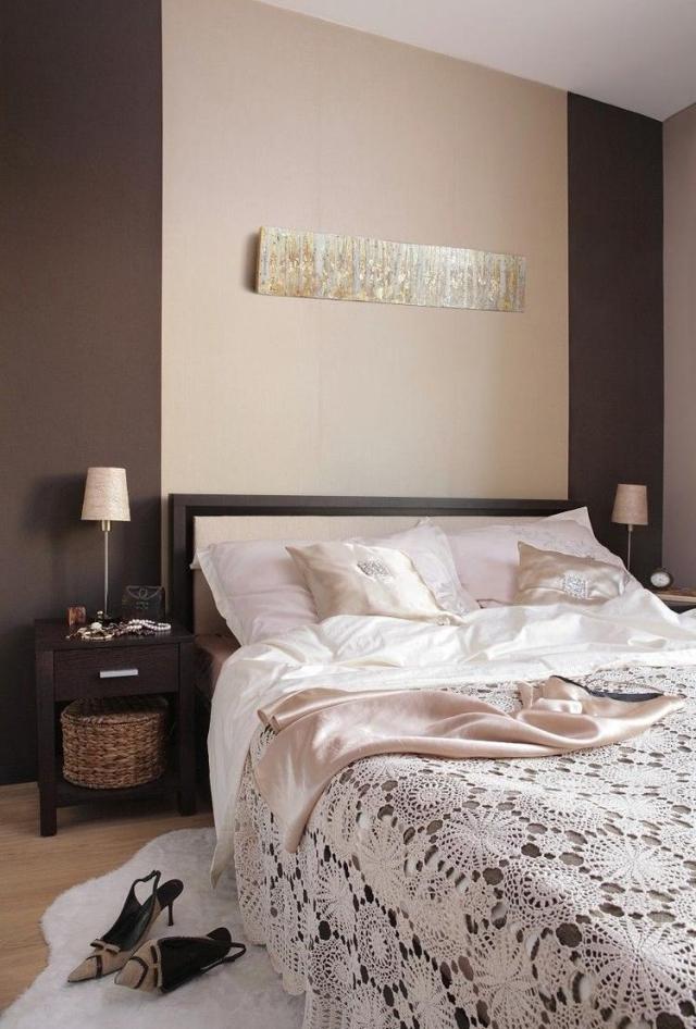Schlafzimmer In Braun Und Beige Tönen Großartig On Kunst Welche Wandfarbe Fürs 5