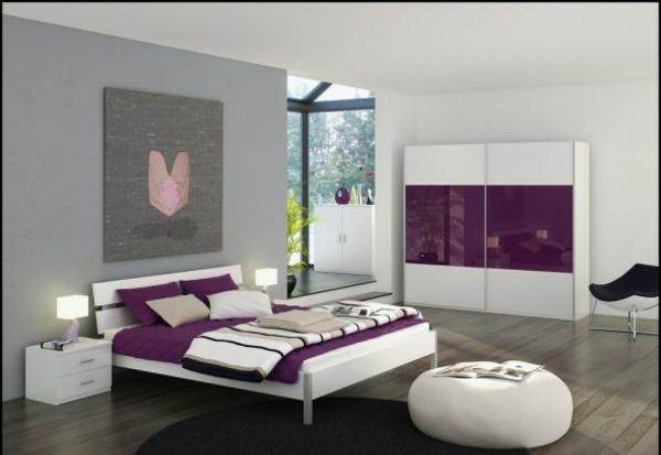 Schlafzimmer Lila Grau Ausgezeichnet On überall Wohnzimmer Ideen Wei Faszinierend 1