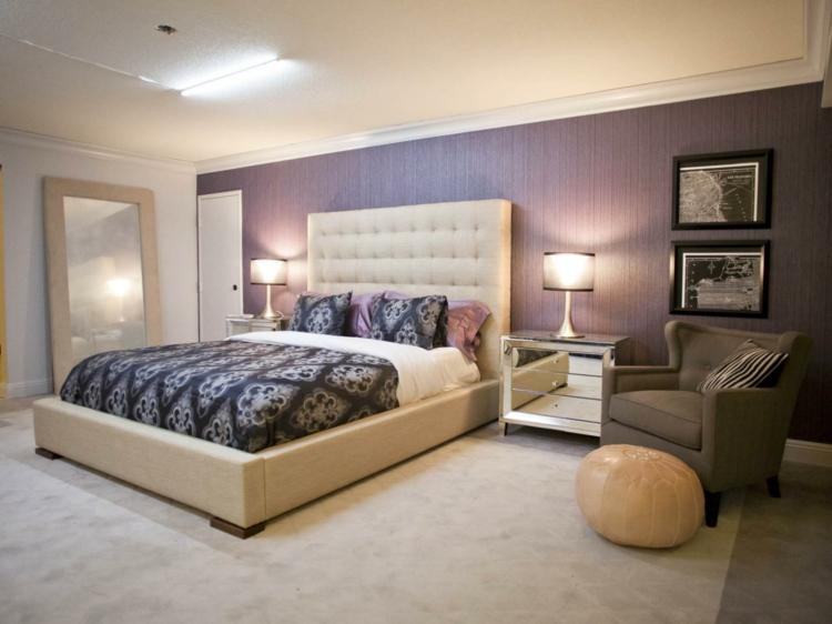 Schlafzimmer Lila Grau Wunderbar On In Farbgestaltung Für Das Geheimnisvolle 7