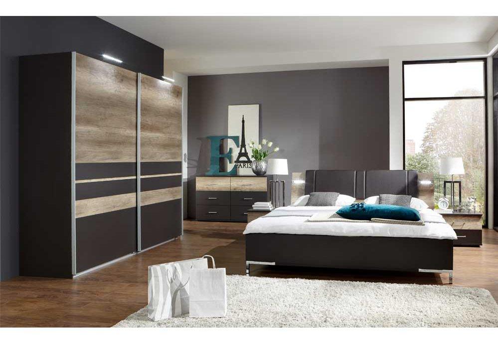 Schlafzimmer Modern Braun Großartig On In Bezug Auf Super Schwarz Grau Lovely Küche For 8