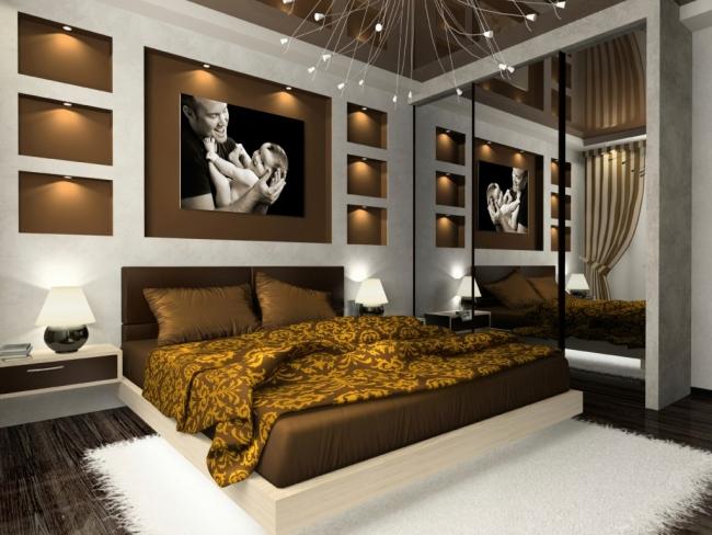 Schlafzimmer Modern Braun