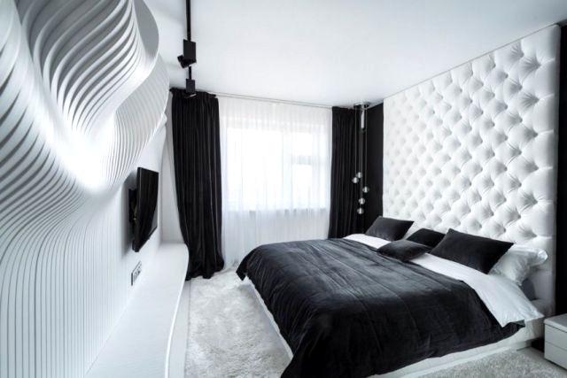Schlafzimmer Modern Schwarz Weiß Beeindruckend On überall Unglaubliche Auf Moderne Deko 7