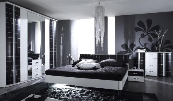 Schlafzimmer Modern Schwarz Weiß Wunderbar On Für Fesselnd Auf Moderne Deko Ideen 5