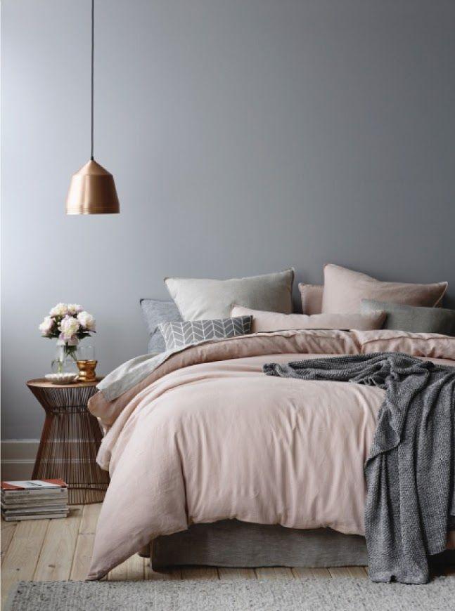 Schlafzimmer Rosa Grau