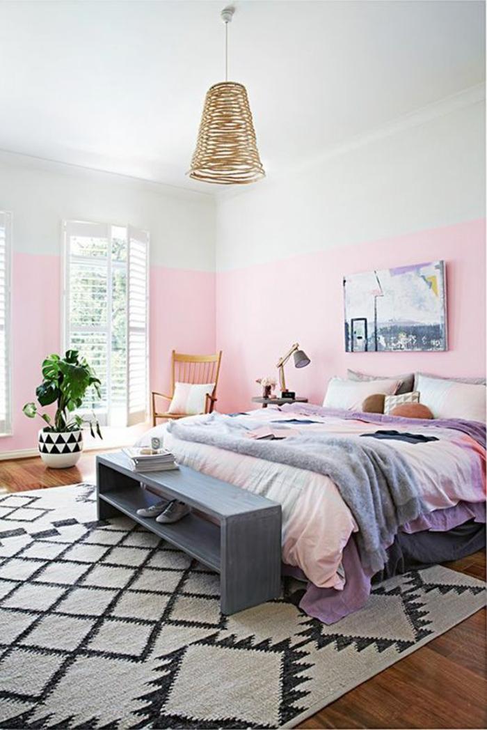 Schlafzimmer Rosa Grau Schön On Beabsichtigt Wandfarbe Im 77 Gestaltungsideen 9