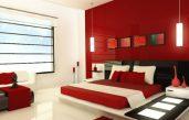 Schlafzimmer Rot Beige