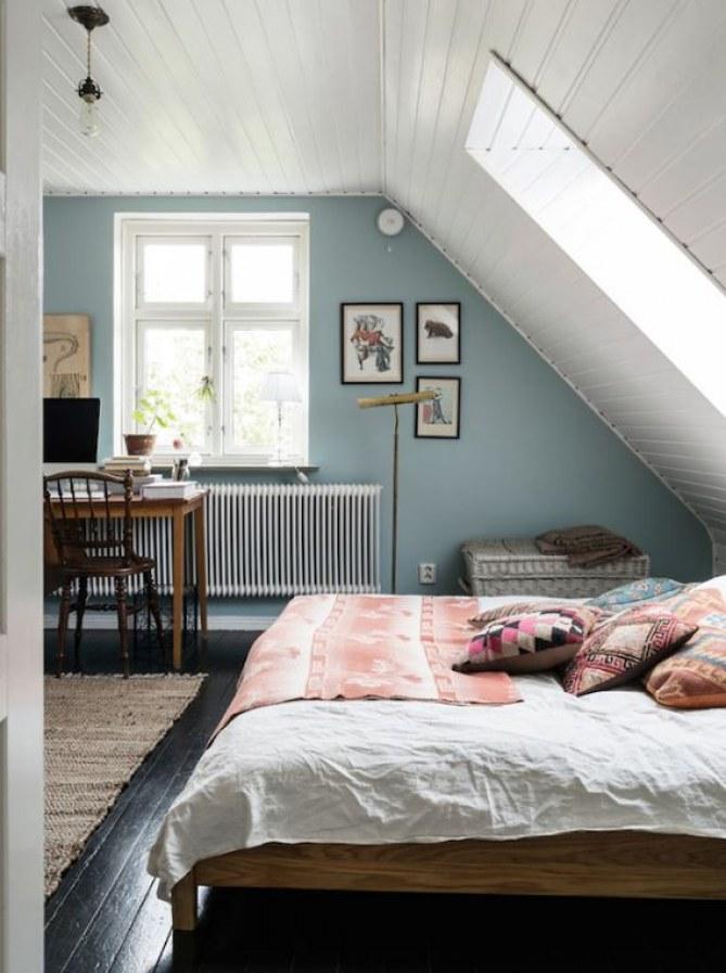 Schlafzimmer Schräge Streichen