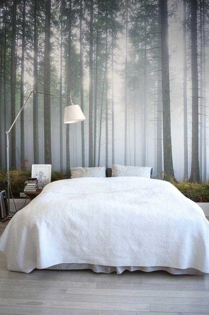 Schlafzimmer Tapete Ideen Charmant On In Die Besten 25 Wald Auf Pinterest 3