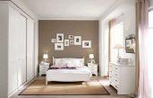 Schlafzimmer Wand Ideen Weiss Braun