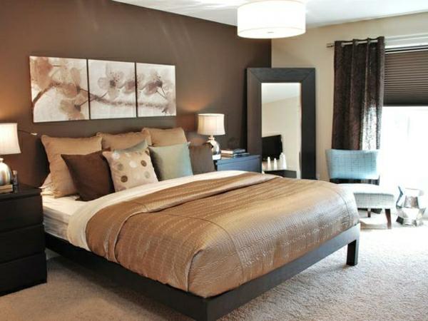 Schöne Braune Schlafzimmer Großartig On Braun überall Schlafzimmerwand Kreativ In 8