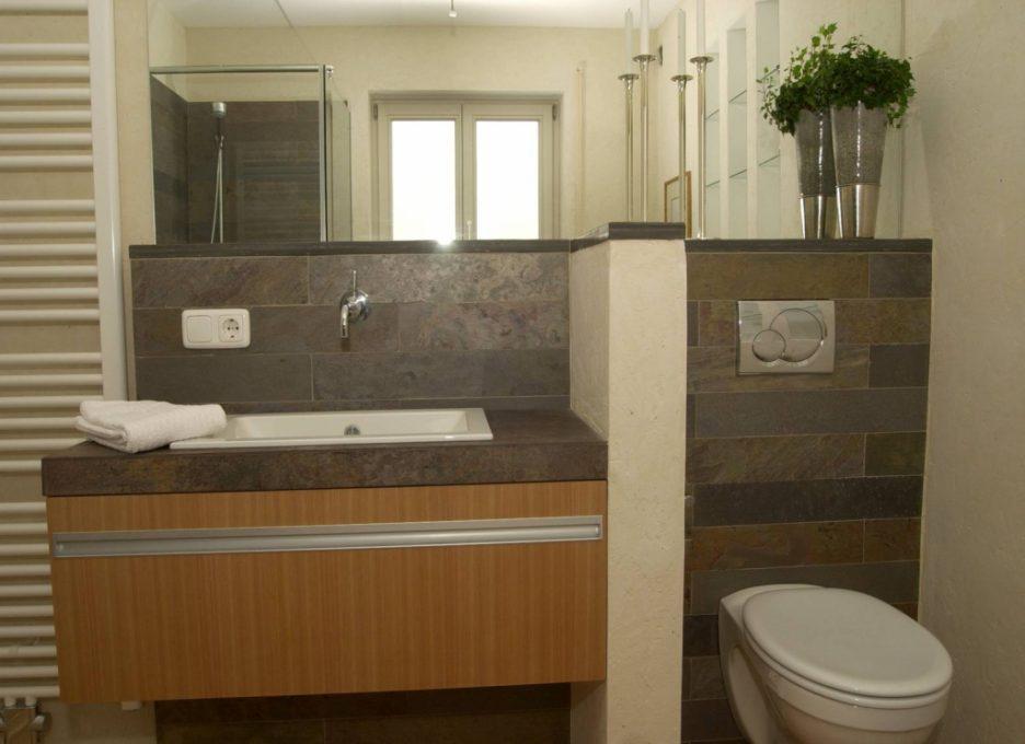 Schönes Kleines Bad Beige Fliesen Charmant On Für Wohnung Haus Renovierung Mit 7