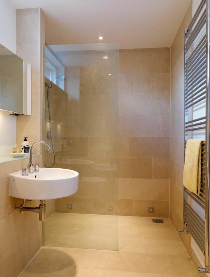 Schönes Kleines Bad Beige Fliesen Herrlich On Beabsichtigt Kleine Badezimmer Einrichten 30 Ideen Für Modernes 3