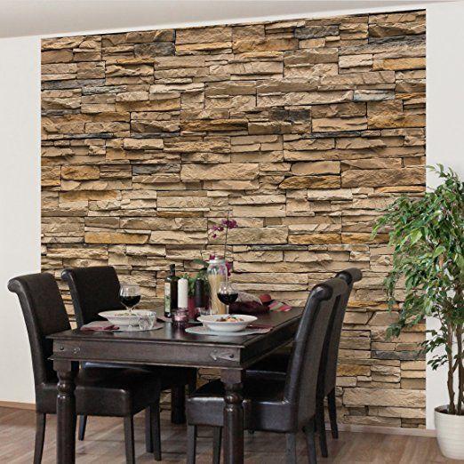 Steinwand Wohnzimmer Braun Einfach On Für Die Besten 25 Steinoptik Wand Ideen Auf Pinterest 6