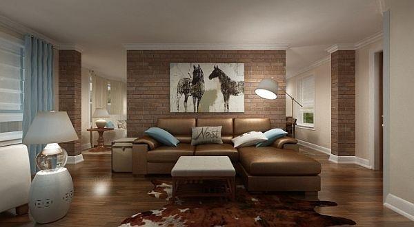 Steinwand Wohnzimmer Braun Kreativ On Beabsichtigt Awesome Tapeten Ideen Pictures House Design 9