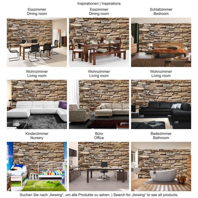Steinwand Wohnzimmer Braun Unglaublich On Und Fototapete Noble Stone Wall ENDLOS Anreihbar 7