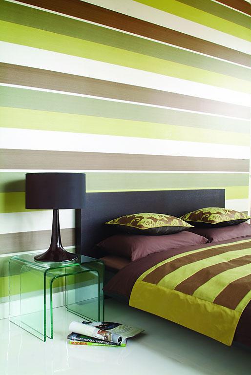 Streifen An Der Wand Braun Imposing On Beabsichtigt Wohndesign 5