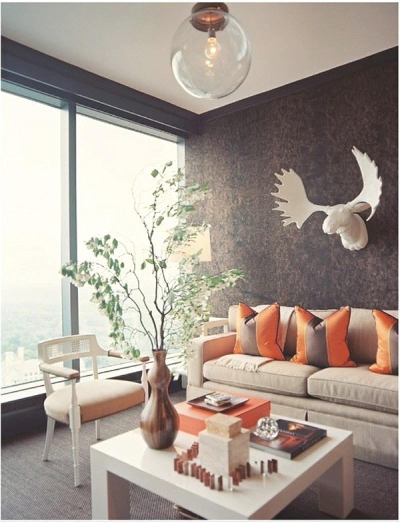 Tapete Braun Beige Akzent Wand Wohnzimmer Einfach On überall Uncategorized 2
