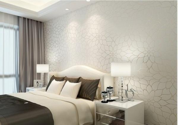 Tapete Braun Beige Akzent Wand Wohnzimmer Unglaublich On überall Tapeten Fur Schlafzimmer 9