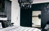 Tapete Schwarz Weiß Schlafzimmer