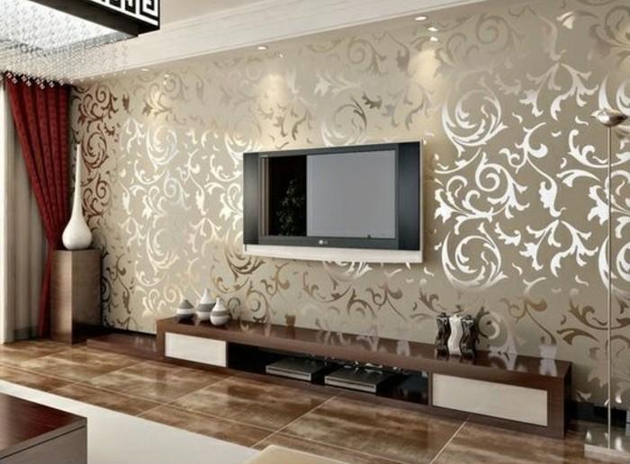 Tapete Wohnzimmer Beige Exquisit On Auf Ideen Tapeten Stilvoll Mit Braune 2
