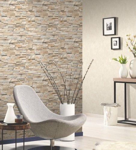 Tapete Wohnzimmer Beige Modern On In Die Besten 25 Steintapete Ideen Auf Pinterest Moderne 1