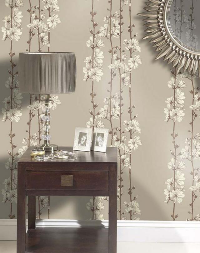 Tapeten Ideen Ausgezeichnet On Mit 85 Wohnzimmer Florale Und Barock Muster 7