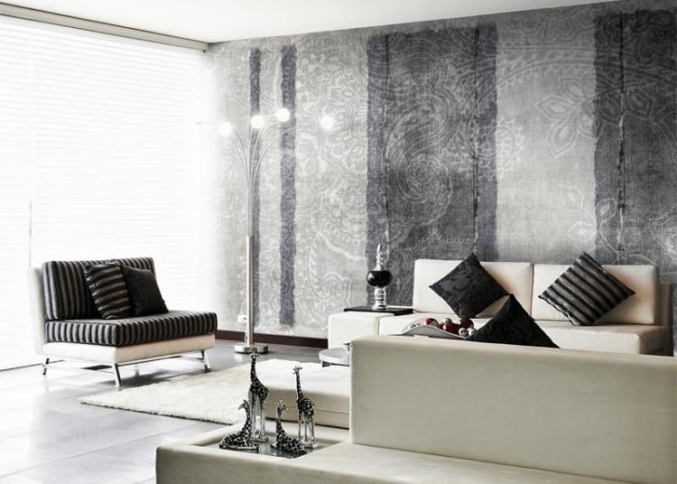 Tapeten Ideen Fürs Wohnzimmer Charmant On Für Schön Muster 2014 Wandgestaltung 7