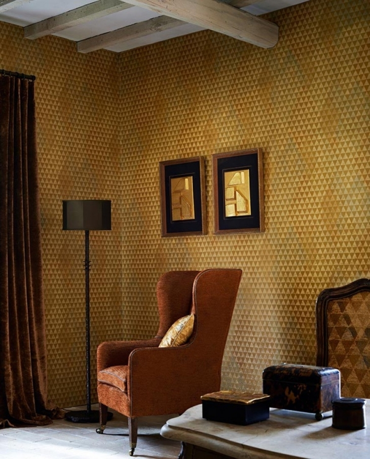 Tapeten Ideen Modern On Mit 85 Wohnzimmer Florale Und Barock Muster 9