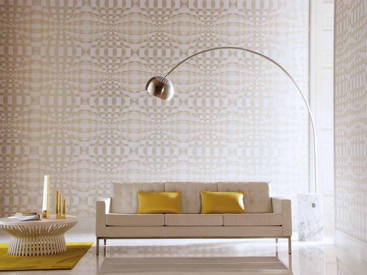 Tapeten Wohnzimmer Beige Bescheiden On In 80 Ideen Coole Moderne Muster 4