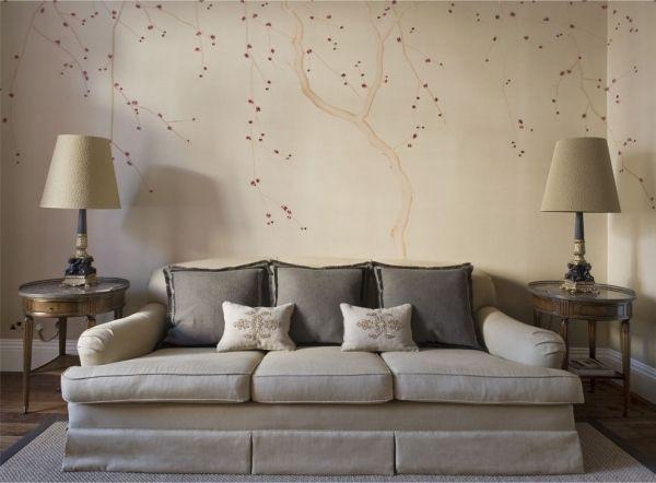 Tapeten Wohnzimmer Beige Modern On Mit Bigschool Info 1