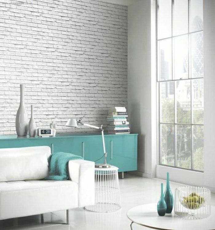 Tapeten Wohnzimmer Ideen 2015 Interessant On überall Tapete Wandgestaltung 6