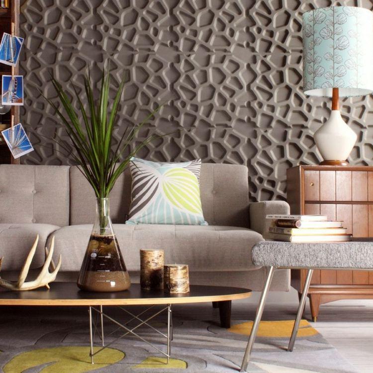 Tapeten Wohnzimmer Ideen 2015 Wunderbar On Beabsichtigt Moderne Wandgestaltung Die 3D Wandpaneele In Farbe Streichen 5
