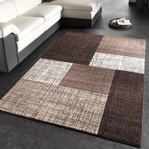 Teppich Design Modern Interessant On In Designer Kariert Kurzflor Meliert 9