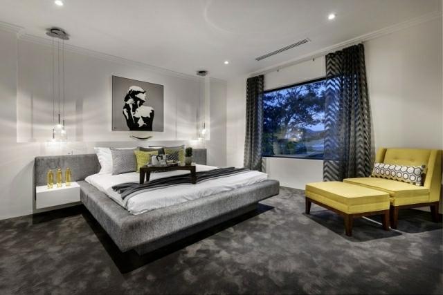 Teppichbode Schlafzimmer Grau