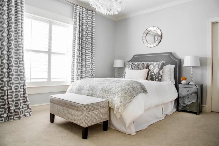 Teppichbode Schlafzimmer Grau Interessant On Auf Wandfarbe Im 77 Gestaltungsideen 8