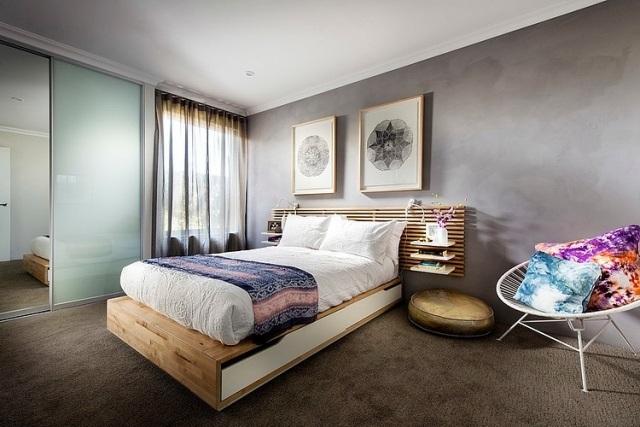 Teppichbode Schlafzimmer Grau Modern On Innerhalb Teppich Braun Govconip Com 3
