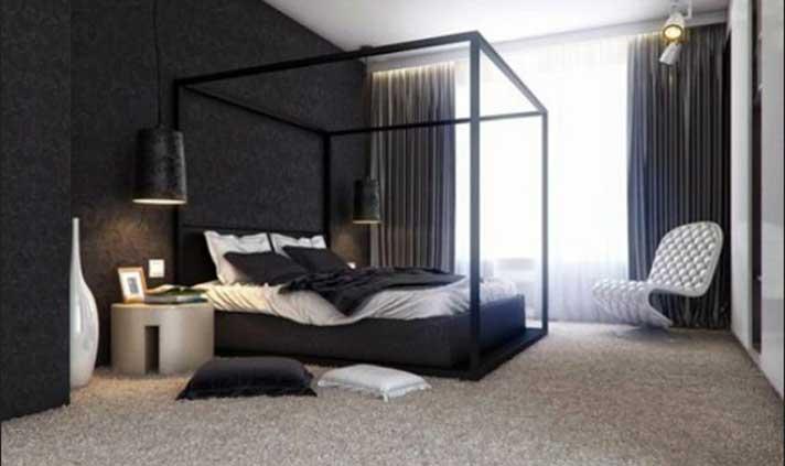 Teppichbode Schlafzimmer Grau Stilvoll On In Bezug Auf Tapeten Design Mit Betten Und 2