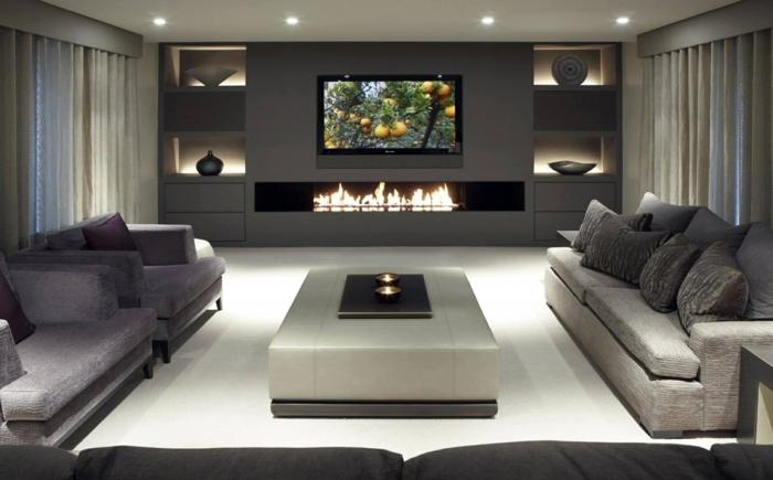 Tv Wand Mit Kamin Herrlich On Andere Beabsichtigt TV Wände Für Die Perfekte Inneneinrichtung Wohnzimmer 2