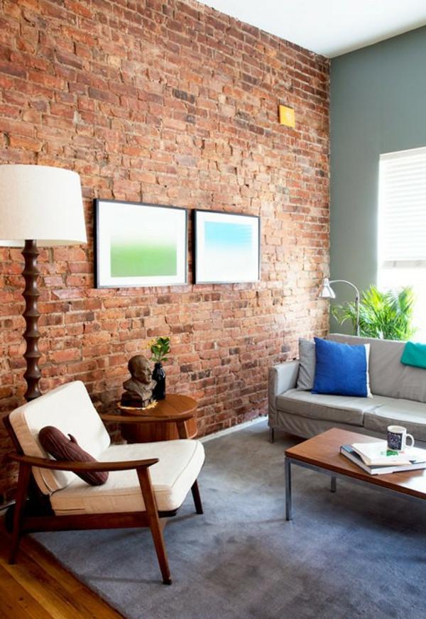 Unbehandelte Ziegelwand Kreativ On Andere überall Awesome Ideas House Design 7