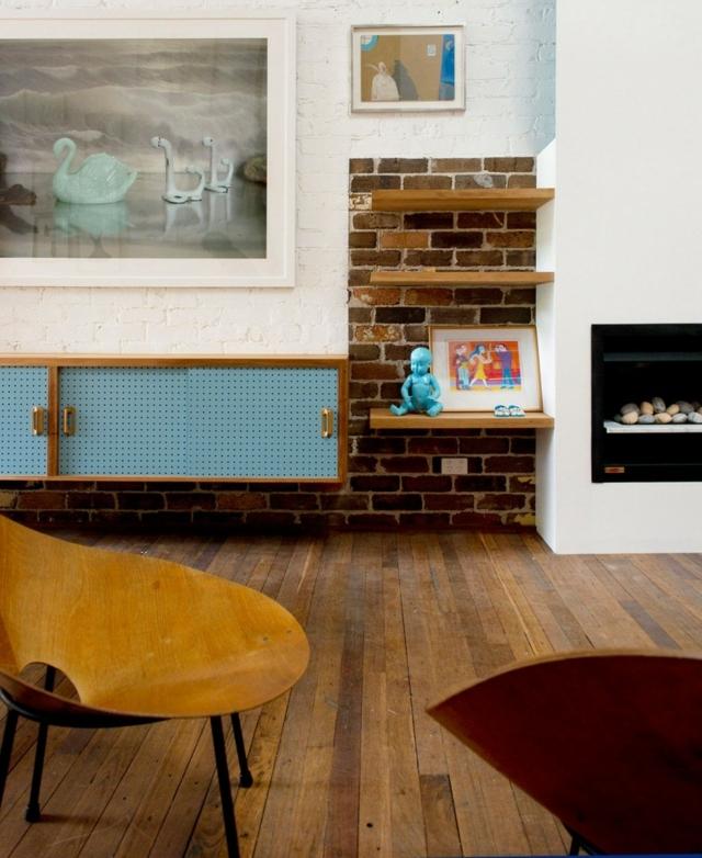 Unbehandelte Ziegelwand Wunderbar On Andere Und Wandgestaltung Im Wohnzimmer 9